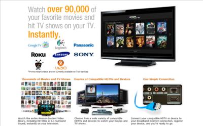 Amazon lanza su propio servicio de streaming de películas y series