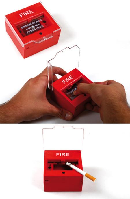 Cenicero botón de alarma anti-incendio