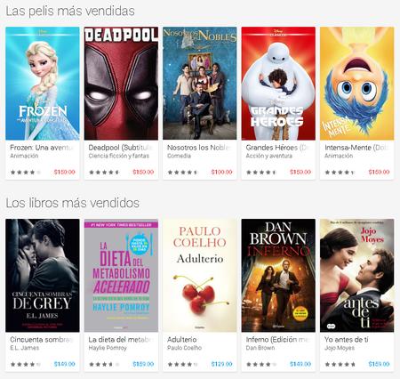 Peliculas Libros Mas Vendidos Google Play Mexico