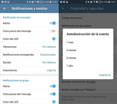 Telegram Opciones Extra