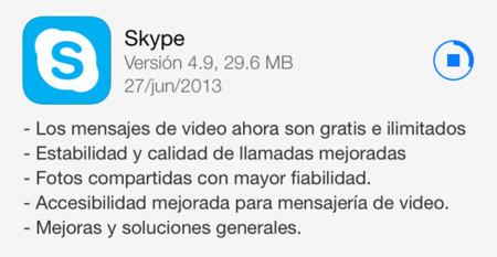 Skype actualiza su aplicación para iOS, ahora los mensajes de vídeos son ilimitados