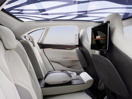 BMW interior, trasero