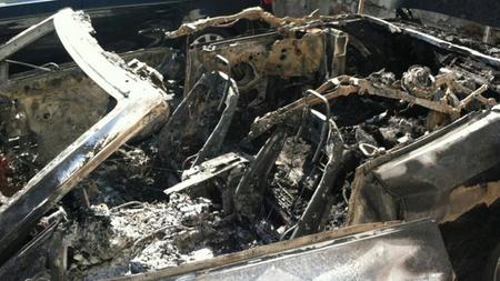 S5 Cabrio incendio.