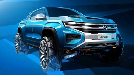 La Volkswagen Amarok 2022, de plataforma compartida con Ford, adelanta su nuevo rostro