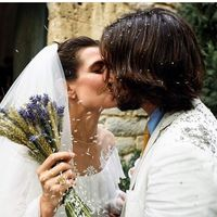 Así ha sido el vestido de novia boho de Carlota Casiraghi para su boda religiosa
