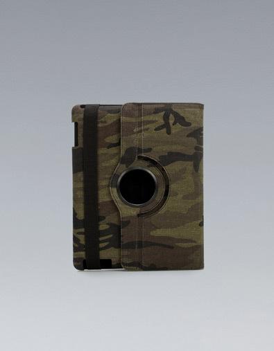 Funda para el iPad camuflaje de Zara
