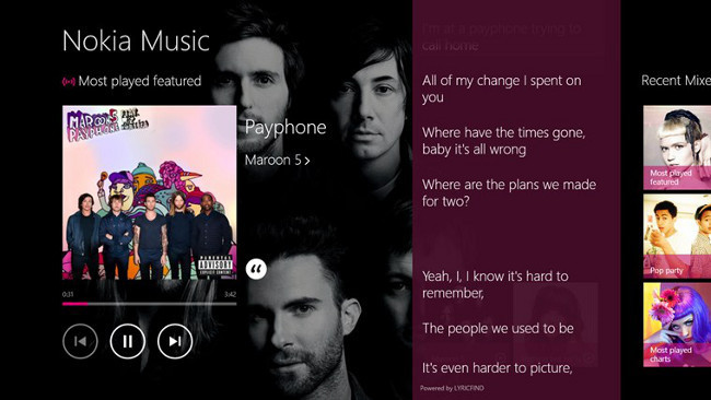 Nokia Music en Windows 8