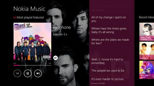 Nokia Music en Windows 8