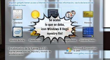 Windows 8 eliminará el soporte para los gadgets de escritorio