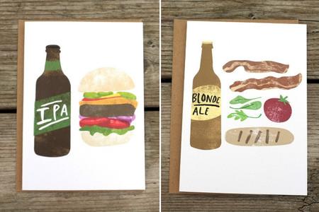 Heidi Schweigert nos propone bonitos maridajes de cerveza y comida con sus ilustraciones