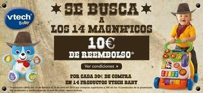 Toys R Us te devuelve 10 euros si compras algo de 'Los 14 magníficos de Vtech'