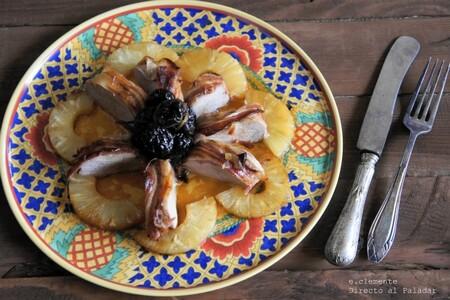 Solomillo de cerdo con ciruelas y piña: receta fácil para disfrutar de sabores agridulces