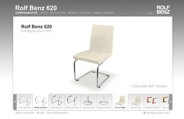 Configura sillas personalizadas gracias a Rolf Benz