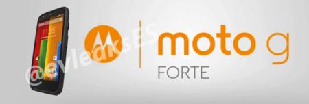 Moto G Forte, se deja ver la versión del Moto G resistente al agua y polvo