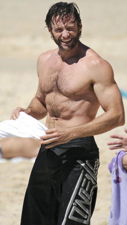 Hugh Jackman en bañador para las damas