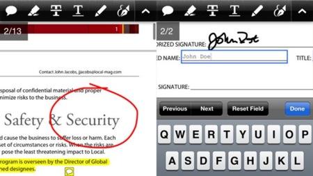Adobe Reader para iOS, nueva actualización con soporte para firmas e interacción con el contenido