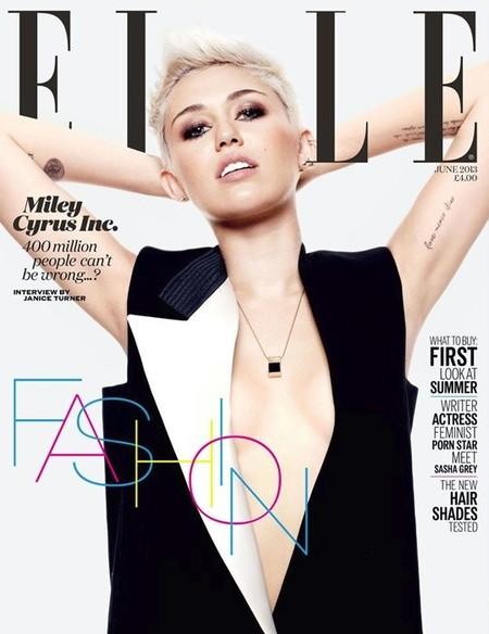 Miley Cyrus de postureo total en Elle