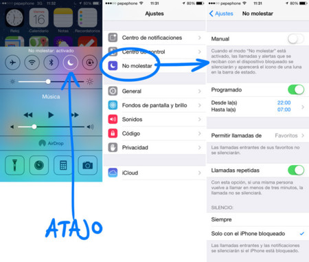 iOS 7 No molestar