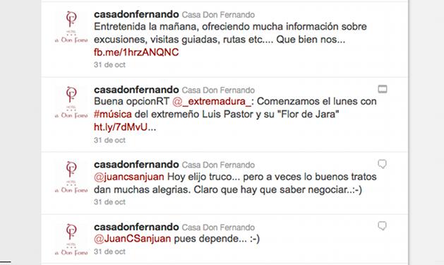 Twitter Casa don Fernando