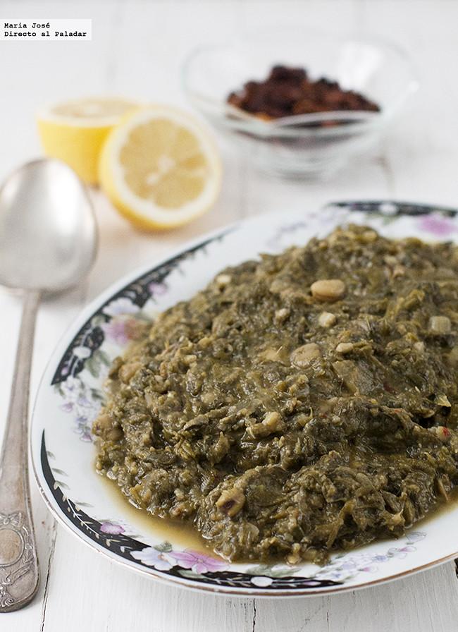 Receta de cuinat: guiso ibicenco típico de Ibiza para Viernes Santo con verduras y legumbres