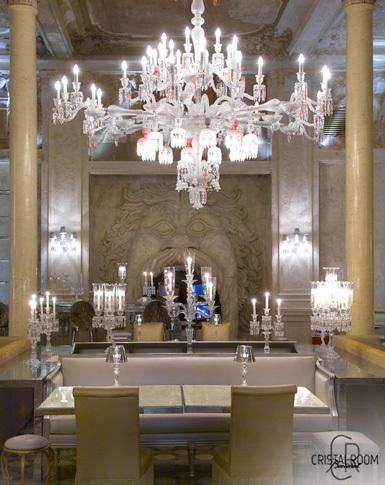Cristal Room Baccarat, dos restaurantes exclusivos en París y Moscú