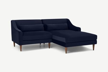 Sofá pequeño con chaise longue