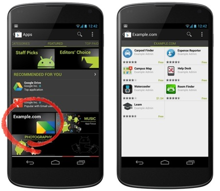 Google Play Private Channel for Android
