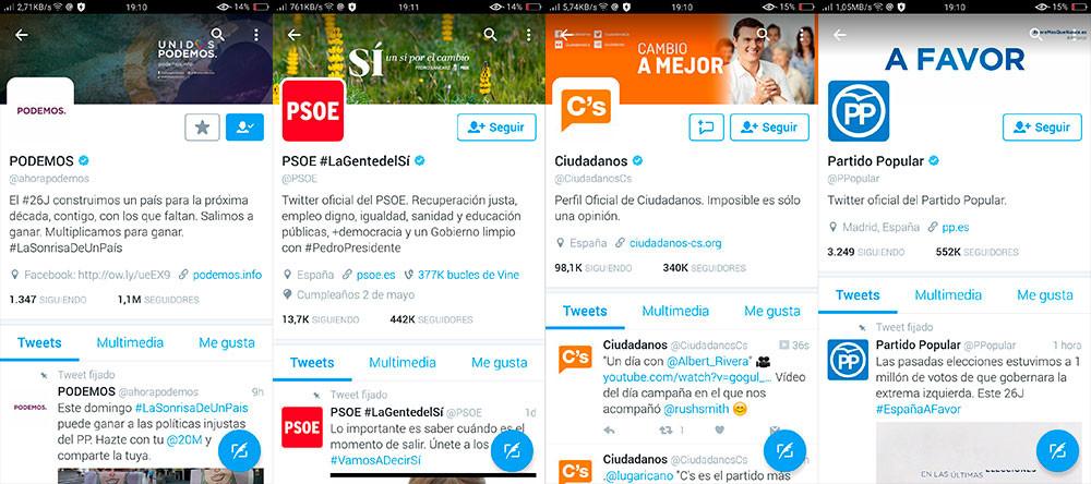 Elecciones 26j Twitter