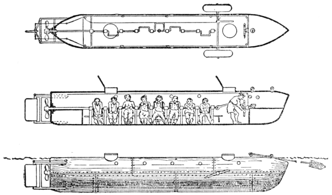 Psm V58 D167 Confederate Submarine Which Sank The Housatonic
