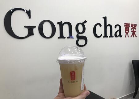 Gong Cha Tea Bubble Tea Mexico Cdmx Acoxpa Milk Foam Te Verde