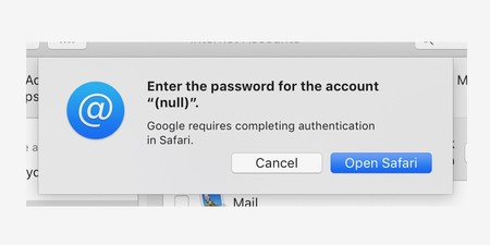 Google Mail Error Mojave