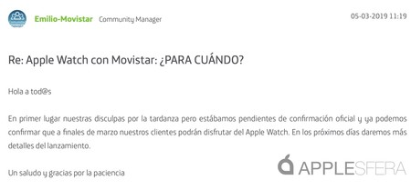 Apple Watch 4g Movistar