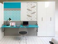 Cama convertible en escritorio para dormitorios infantiles