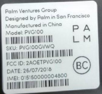 Palm Etiqueta De La Fcc