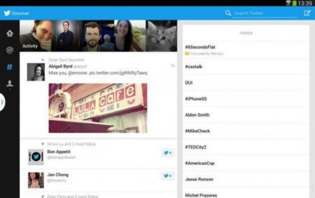 Twitter para tablets Android anunciado oficialmente con exclusiva temporal para Samsung