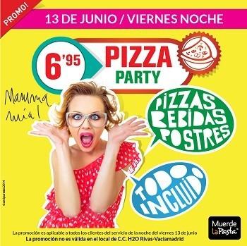 Muerde la Pasta tiene nueva promoción para el viernes 13 de junio, y la cosa va de pizzas