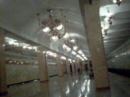 Una estación de metro en Tashkent