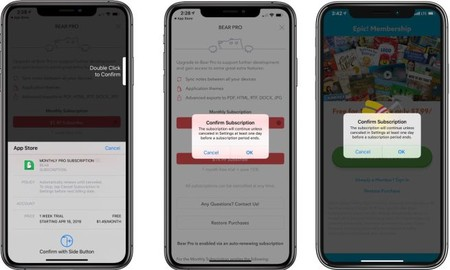 Apple tuvo que añadir fricción y un doble paso de confirmación para las nuevas suscripciones mediante las apps de la App Store.