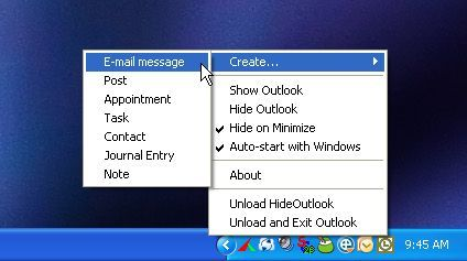 Esconde Outlook y Outlook Express con HideOutlook