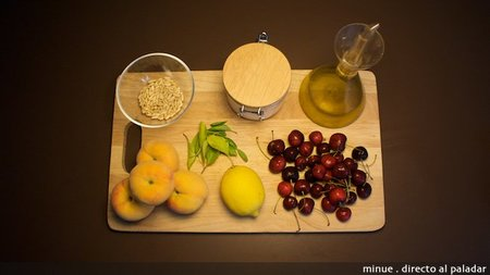 tartar melocotón - ingredientes