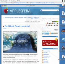 Páginas web como fondo de escritorio