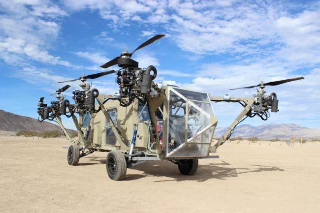 [Vídeo] Black Knight Transformer: Drone + helicóptero + camión militar