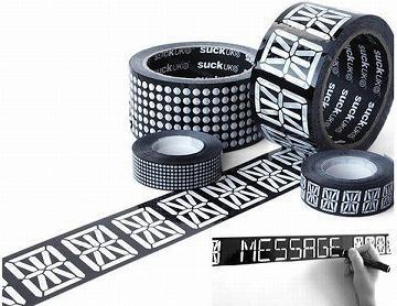 Cinta adhesiva con mensaje