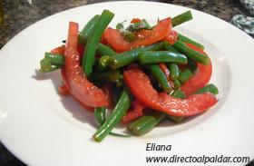 Ensalada de vainitas tiernas y tomate