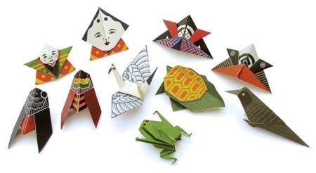 Figuras de origami desde Japón