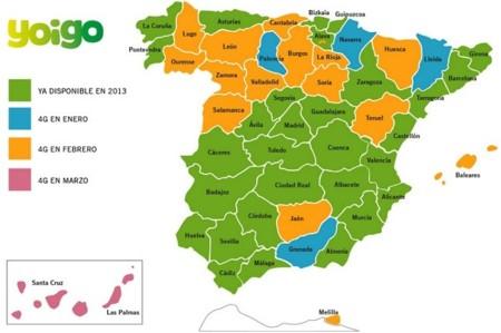 Yoigo y su 4G llegará a todas las provincias españolas durante el primer trimestre de 2014