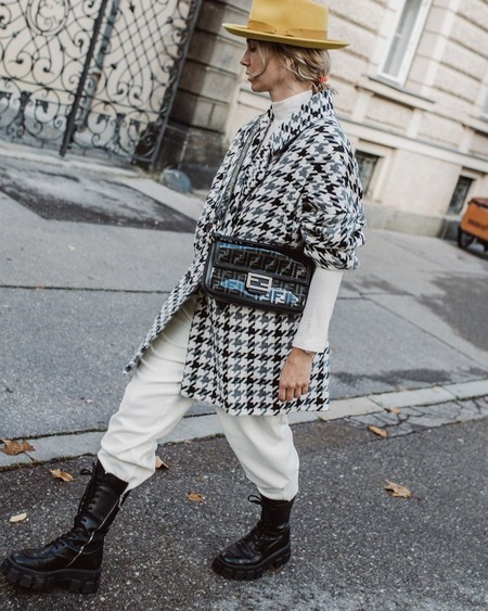 Karin Teigl Zara Houndstooth Coat Instagram