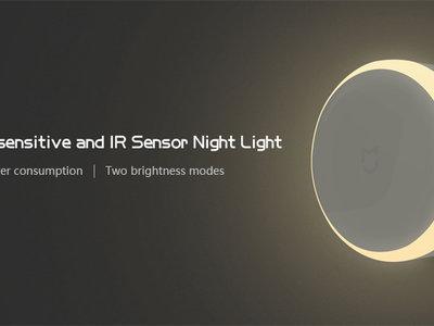 Luz nocturna Xiaomi Mijia Night Light, con sensor de movimiento, por 10,51 euros y envío gratis