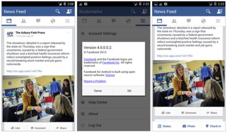 Facebook Android UI