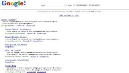 Recuerda como era Google en 1998. La imagen de la semana
